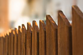 Traditional picket fencing